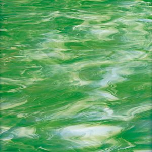 Opal 327-2S Light Green, White