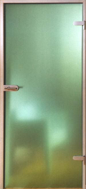 Glastür Parsol, grün, mattiert, 834 x 1972 mm