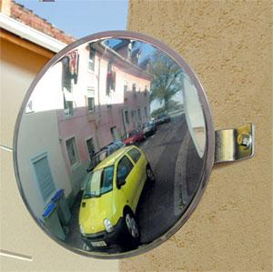 Verkehrsspiegel 300 mm rund für Garagenausfahrten