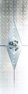 Madras Rombo, weiß 5 mm