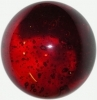 Bubblekugel  90 mm rot