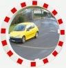 Verkehrsspiegel 900 mm rund Rahmen rot/weiß 3 Jahre Garantie