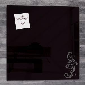 magnetische pinnwand aus lackiertem glas 48 x 48 cm orname. Black Bedroom Furniture Sets. Home Design Ideas