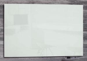 magnetische pinnwand aus lackiertem glas 60 x 40 cm wei. Black Bedroom Furniture Sets. Home Design Ideas